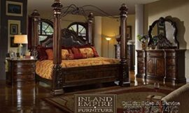 Inland Empire Furniture Giana Queen Adult Canopy Bed Set