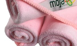 MojaWorks Microfiber Face Cloth Cleaning – Heavy Duty Stitching, Dual Purpose, Ultra Dense, Exfoliate Skin, Cleanse Pores – Easily Remove Makeup Dead Skin Cells – 3 Pack Measures 12″ x12″ (Pink)