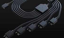 Cooler Master 1-to-5 Addressable RGB Splitter Cable Universal 3-pin ARGB Sync on LED Strips and Fans for Computer Cases, CPU Coolers and Radiators Fans