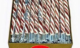 Peppermint Candy Sticks – Box Of 80 Candy Sticks Individually Wrapped – Carefully Packaged By Snackadilly