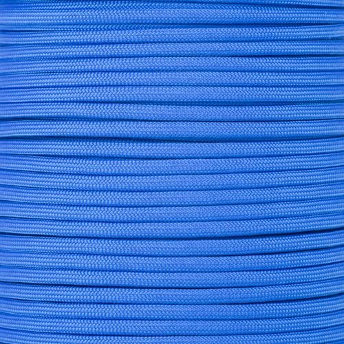 PARACORD PLANET 10 20 25 50 100 Foot Hanks and 250 1000 Foot Spools of Parachute 550 Cord Type III 7 Strand Paracord (Royal Blue 100 Feet)