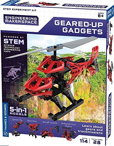 Thames & Kosmos Engineering Makerspace Geared-Up Gadgets Science Experiment Kit