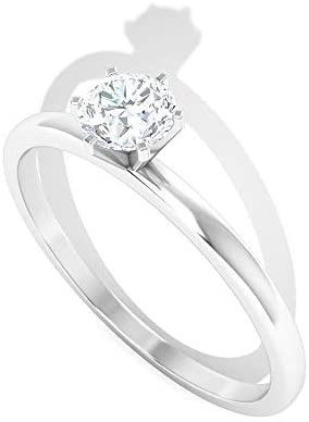 1Ct Diamond IGI Certified Solitaire Ring, Classic Women Partywear Wedding Ring, IJ-SI Color Clarity Diamond Promise Ring, Gold Engagement Ring