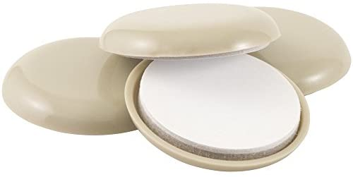 SuperSliders Self-Stick Furniture Sliders for Carpeted Surfaces (4 Piece), 2-1/8″ Round, Linen