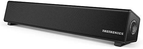 TaoTronics Bluetooth 5.0 Computer Speaker, Wired/Wireless Computer Sound Bar, Mini Soundbar Speaker for PC/Cellphone/Tablets/Desktop, Aux Connection