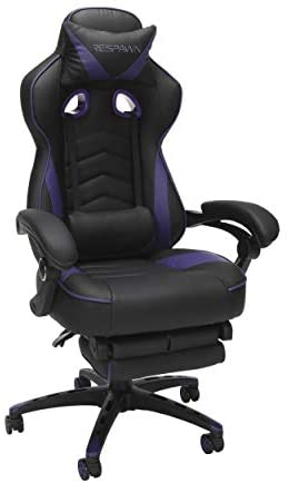 Read more about the article RESPAWN 110 Racing Style Gaming Chair, Reclining Ergonomic Leather Chair with Footrest, in Purple (RSP-110-PUR)