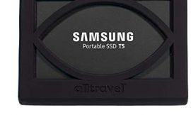 External Solid State Drive Bumper Sleeve for Samsung T5 Portable 250GB 500GB 1TB 2TB SSD USB 3.0 External Solid State Drives, Super Strong Bumper Anti Shock, Shake and Drop, by Alltravel (Black)