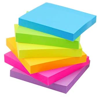 Early Buy Sticky Notes 6 Bright Color 24 Pads Self-Stick Notes 3 in x 3 in, 100 Sheets/Pad