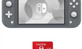 Nintendo Switch Lite, Gray – with SanDisk 128GB UHS-I microSDXC Memory Card for The Switch