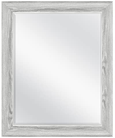 MCS 22×28 Inch Curvature, 27.5×33.5 Overall Size, Gray Woodgrain (66948) Mirror