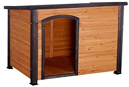 Outdoor Doghouse Dog House, Outdoor Weather-Resistant Wooden Log Cabin, Home Pet Furniture, Pet House with Adjustable Feet & Removable Floor, Pet Dog House Pet Shelter