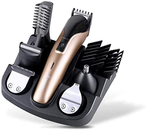 no logo KULZTT Hair Clippers for Men, Electric Trimmer for Men, Six-in-one Professional Cordless Hair Cutting Kits for Men USB Rechargeable Waterproof Men's Grooming Kits