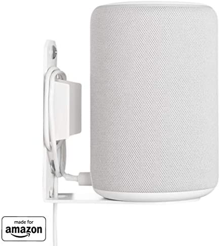 """""""Made for Amazon"""" Wall Mount for Echo (2nd Gen or 3rd Gen) and Echo Plus (2nd Gen) – White"""