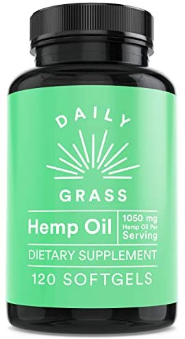 Hemp Oil (120 Softgels – 42,000 mg) – Natural Stress & Anxiety Relief – Made in USA – Rich in Vitamins B, E & Omega 3