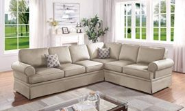 Infini Furnishings Sofa Sectional, Beige
