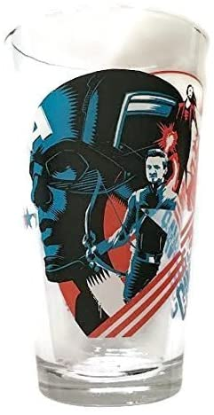"Captain America""Civil War"" Collector Series Pint Glass – Officially Licensed (5-3/4″ Tall)"