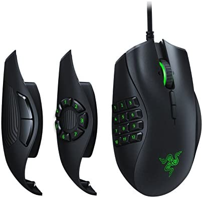 Razer Naga Trinity Gaming Mouse: 16,000 DPI Optical Sensor – Chroma RGB Lighting – Interchangeable Side Plate w/ 2, 7, 12 Button Configurations – Mechanical Switches