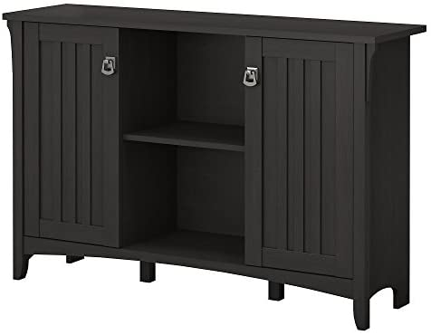 Bush Furniture Salinas Accent Storage Cabinet with Doors in Vintage Black