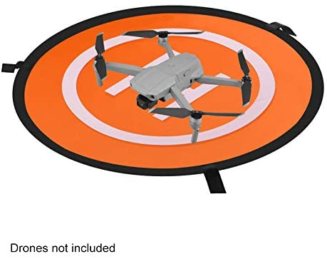 beiyoule Drones Landing Pad, Universal Drones Landing Pad Waterproof 55/75cm Foldable Portable Double Sided Quadcopter Landing Pads for DJI