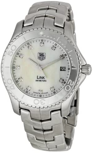 TAG Heuer Men's WJ1114BA0575 Link Mother-Of-Pearl Dial Watch