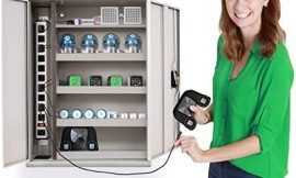 Line Leader STEM Charging Cabinet with Bonus Cords| Wall Mounted Locking Storage for Electronics | Perfect for STEM & Makerspace Robotic Products, Phones & More! (19 x 6.25 x 26.50)