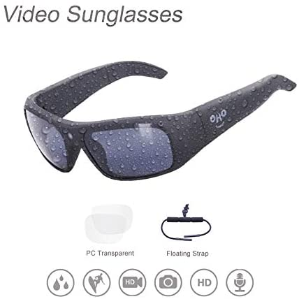 Waterproof Video Sunglasses,32GB 1080 HD Outdoor Sports Action Camera and Polarized UV400 Protection Safety Lenses,Unisex Sport Design