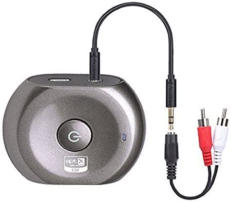 [Upgraded Version] aptX Low Latency Bluetooth Transmitter and Receiver, 2 in 1 Wireless 3.5mm RCA Audio Adapter for TV, Home Stereo System, Speakers, Headphones – Saturn Pro