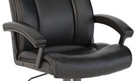Bush Business Furniture Stanton Plus High Back Leather Executive Office Chair in Black
