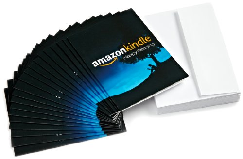 Amazon.com $15 Gift Cards, Pack of 20 with Greeting Cards (Amazon Kindle Design)