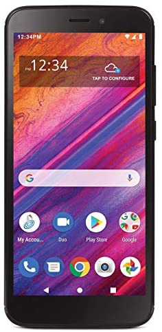 Simple Mobile Blu View 1 4G LTE Prepaid Smartphone (Locked) – Black – 16GB – Sim Card Included – GSM