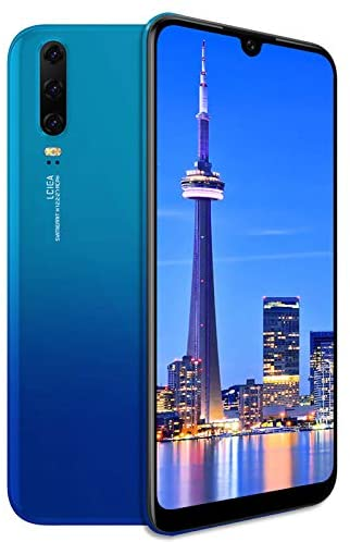 Unlocked Cell Phones, p30A 3G (WCDMA:850/2100) Android Smartphone, 6.26 inch IPS Full-Screen, 3G Dual SIM,2GB RAM 16GB ROM, Android 7.0 MTK6580 Quad Core,3800mAh(Apply to T-Mobile) Blue