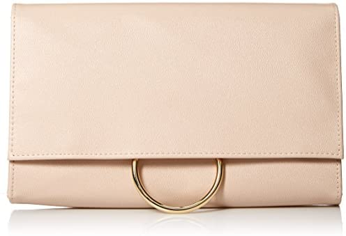 Jessica McClintock Nora Solid Large Envelope Clutch with Ring Closure