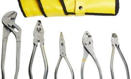 Aven 10381 Stainless Steel Pliers Set, 5-piece In Roll Up Pouch