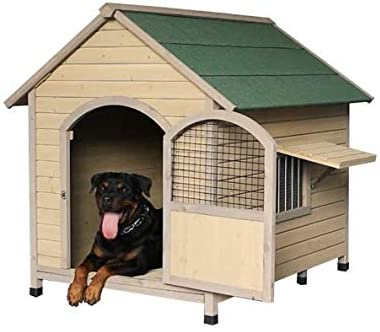 QPLKKMOI Dog House Waterproof Ventilate Pet Kennel with Air Vents and Elevated Floor for Indoor Outdoor Use Pet Dog House