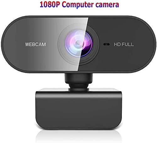 1080P Webcam with Microphone,USB Plug and Play Camera Streaming Webcam for PC,Laptop,YouTube,Skype Video Calling, Studying, Conference