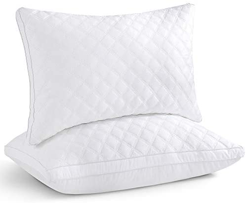 Oubonun Standard Pillows Set of 2, Bed Pillows for Sleeping 2 Pack, Hypoallergenic Down Alternative Pillow Inserts, Standard Size, 20 x 26 inches
