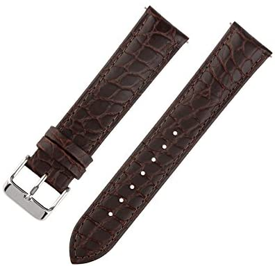Ivystore 18/20/22mm Alligator Interchangeable Bar Genuine Leather Watch Strap Classical Wristband for Men and Women
