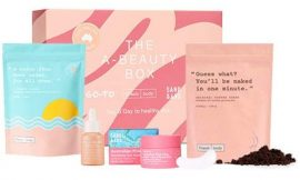 A-Beauty Box Skin Care Set. Limited Edition Organic Skin Care Kit from Sand & Sky, Go-To and Frank Body. Includes Face Oil, Australian Pink Clay Face Mask and Coffee Scrub