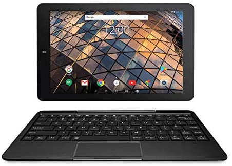 RCA Atlas 10 Pro-S 10 inches Quad Core Tablet with Keyboard Touchscreen WiFi 64G Storage Android 7.0 (Black) (Renewed)