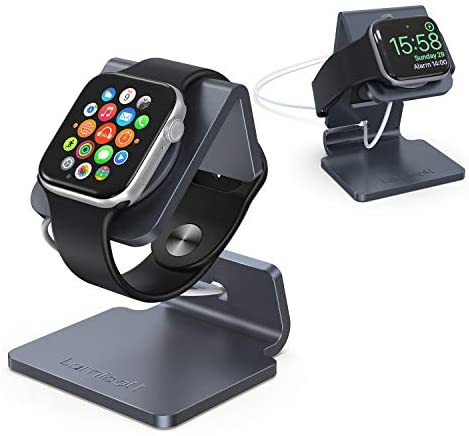 Stand for Apple Watch, Lamicall Charging Stand : Desk Watch Stand Holder Charging Dock Station Designed for Apple Watch Series 5 / Series 4 / Series 3/2 / 1 / 44mm / 42mm / 40mm / 38mm – Gray