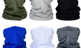 6 Pieces Sun UV Protection Face Cover Neck Gaiter Scarf Sunscreen Breathable Bandana for Hot Summer Cycling Hiking Fishing