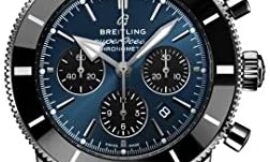 Breitling Superocean Heritage II Chronograph B01 44mm Watch Blue Dial with Black Subdials (Blackeye Blue)
