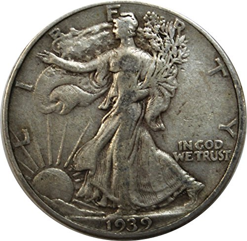 1939 P Walking Liberty Half Dollar 50c Very Fine
