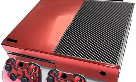 Gam3Gear Decals Skin Vinyl Sticker for Original Xbox ONE Console & Controller (NOT Xbox One X/Xbox One Elite/Xbox One S) – Red Glossy