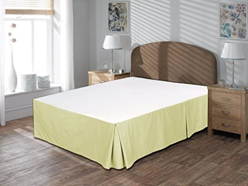 Linen House Hotel Collection Bedding's 800-Thread-Count 100% Egyptian Cotton Cal King Damask Solid 3 Piece ( Box Plated Bed Skirt With 12″ Drop Length + 2pc Pillow Case ) , Ivory