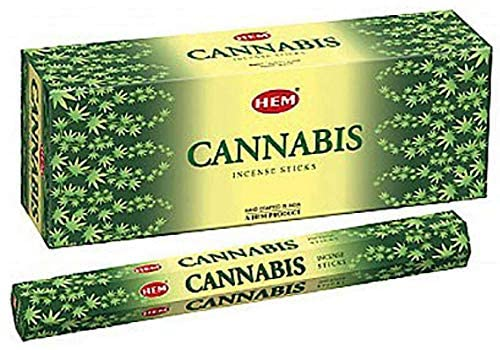 Hem Cannabis Incense Sticks Agarbatti Indian Natural Fragrance Hand Rolled Pack of 3