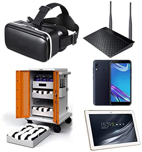 Google Expeditions Student VR Kit (20 Pack) – Android VR Device, Dual Core Router, Teacher Tablet, Carry Case (20 Kit)