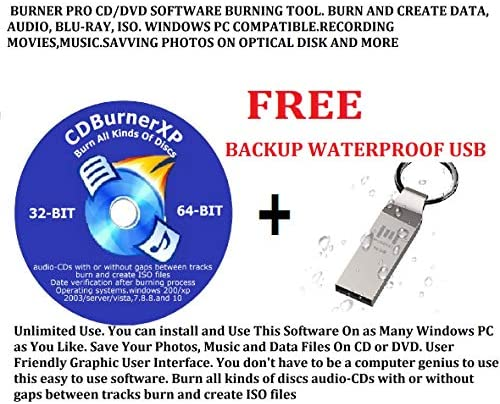 DVD BURNER PRO CD/DVD SOFTWARE BURNING TOOL. BURN AND CREATE DATA, AUDIO, BLU-RAY, ISO. WINDOWS PC COMPATIBLE.RECORDING MOVIES,MUSIC.SAVVING PHOTOS ON OPTICAL DISK AND MORE