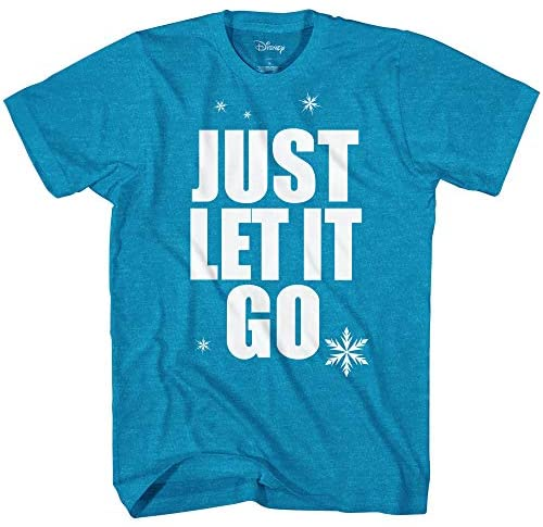 Disney Frozen Elsa Just Let It Go Disneyland Graphic Adult T-Shirt