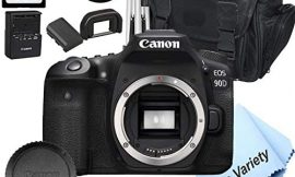 Canon EOS 90D DSLR Camera (Body Only) +32GB Card, Tripod, Case, and More (14pc Bundle)